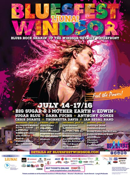 Bluesfest Windsor Poster 2016