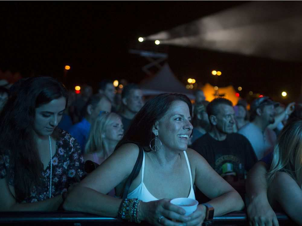 Fans watch headliner Eddie Money perform on the third night of the LiUNA Bluesfest Windsor at the Riverfront Festival Plaza, Saturday, July 14, 2018. DAX MELMER / WINDSOR STAR