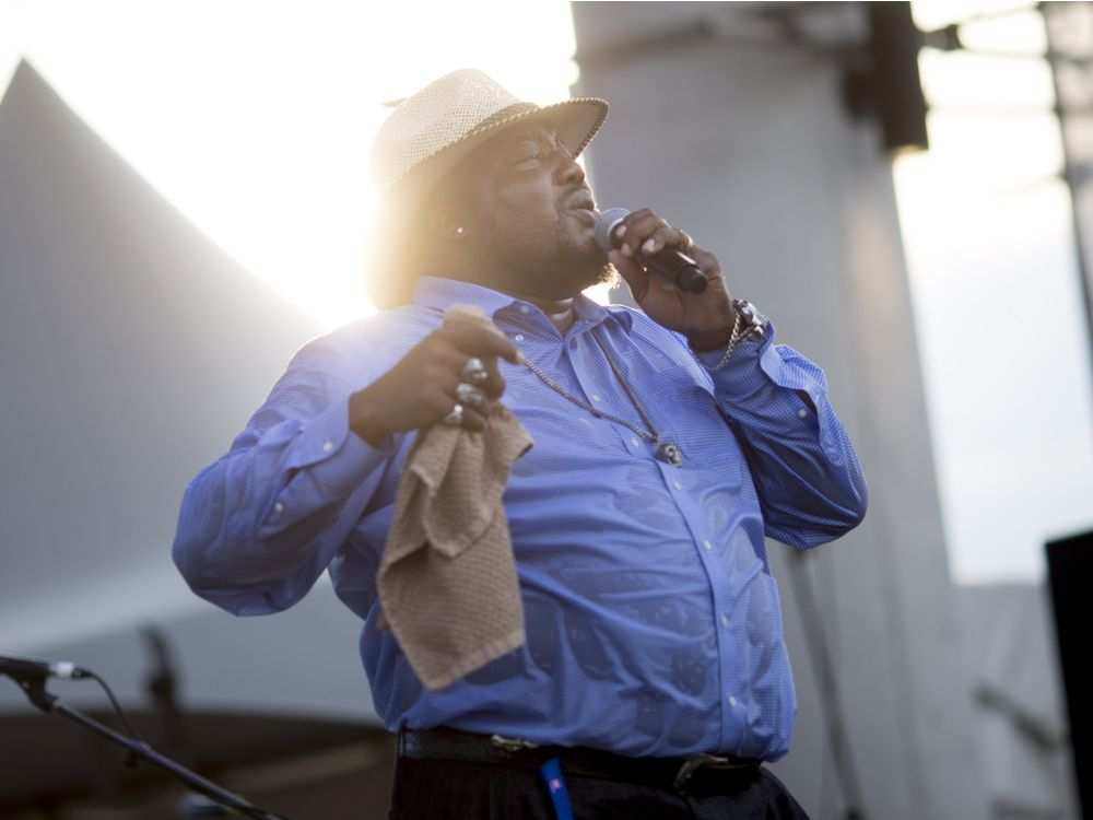 Sugar Ray Rayford performs on the third night of the LiUNA Bluesfest Windsor at the Riverfront Festival Plaza, Saturday, July 14, 2018. DAX MELMER / WINDSOR STAR